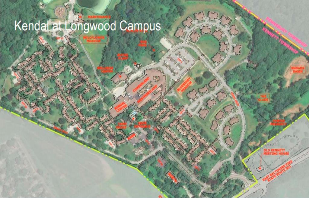Aerial view of Kendal Campus
